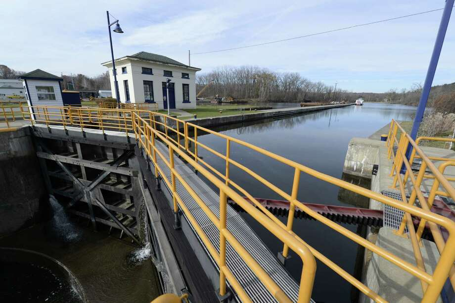 Lock #3 on the Erie Canal Friday afternoon Nov. 15, 2013 in Waterford, N.Y.  The lock system closes for the season this evening at 5 p.m.     (Skip Dickstein / Times Union) Photo: Skip Dickstein / 00024433A