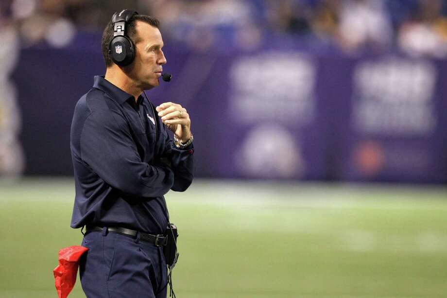 Texans coach Gary Kubiak is used to working from the press box from his days as an assistant. Photo: Brett Coomer, Staff / © 2013  Houston Chronicle
