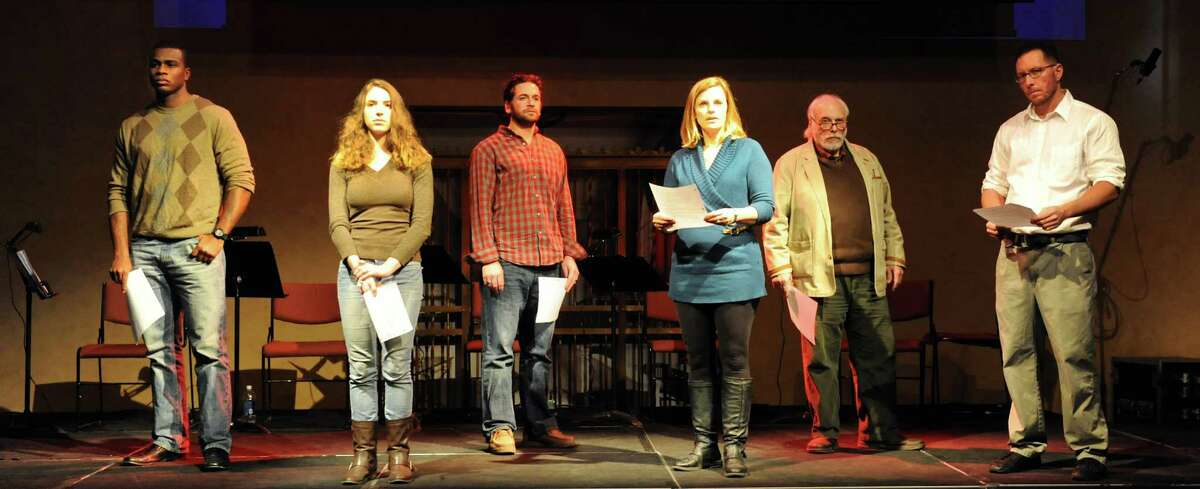 This weekend, The Salvation Army mobilized for the holidays, the Erie Canal closed down for the winter, and RPI won back a pair of shoes. See photos from these stories and more. Actors in the play