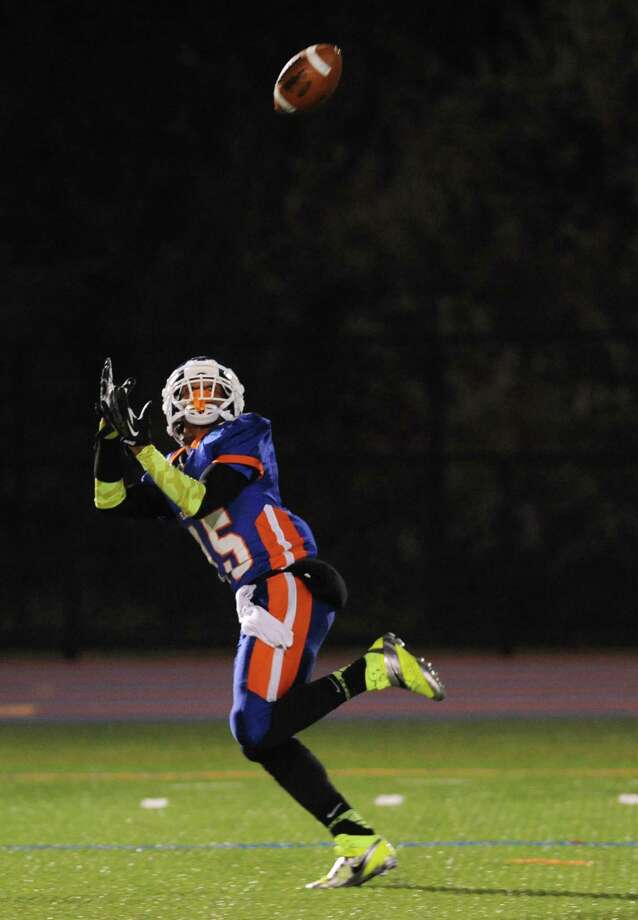 Photos from the FCIAC high school football game between Danbury and Greenwich at Danbury High School in Danbury, Conn. on Friday, Nov. 15, 2013. Photo: Tyler Sizemore / The News-Times
