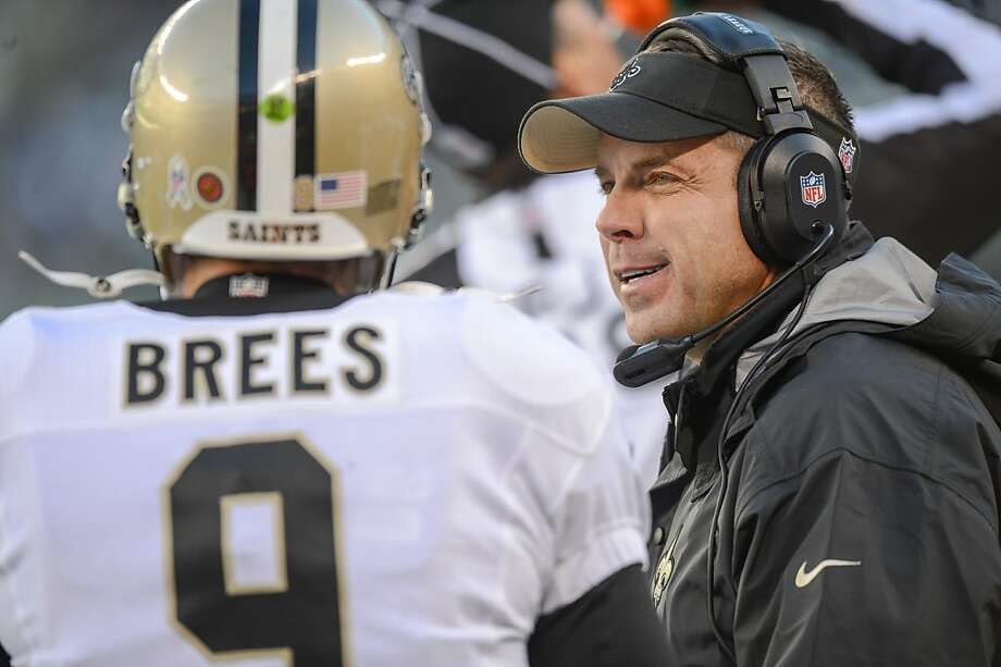 Quarterback Drew Brees and head coach Sean Payton have the Saints back atop the NFC South after a season in which Payton was suspended and the team struggled to a 7-9 record. Photo: Ron Antonelli, Getty Images