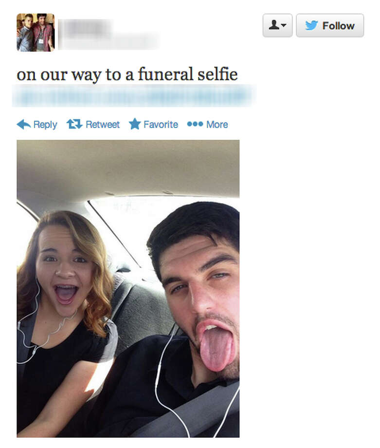 Screencaps provided by the blog Selfies at Funerals Photo: Courtesy
