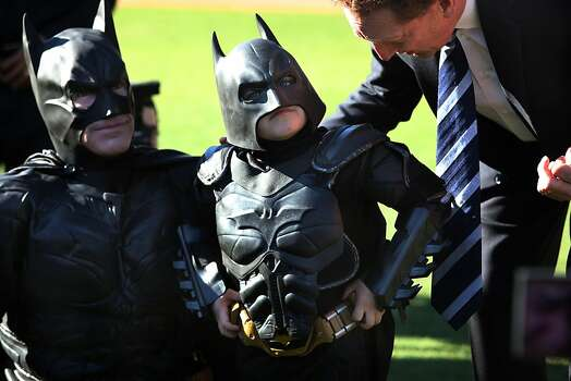 Batkid fights crime at AT&T park  in San Francisco, California, on Friday, November 15, 2013. Photo: Liz Hafalia, The Chronicle
