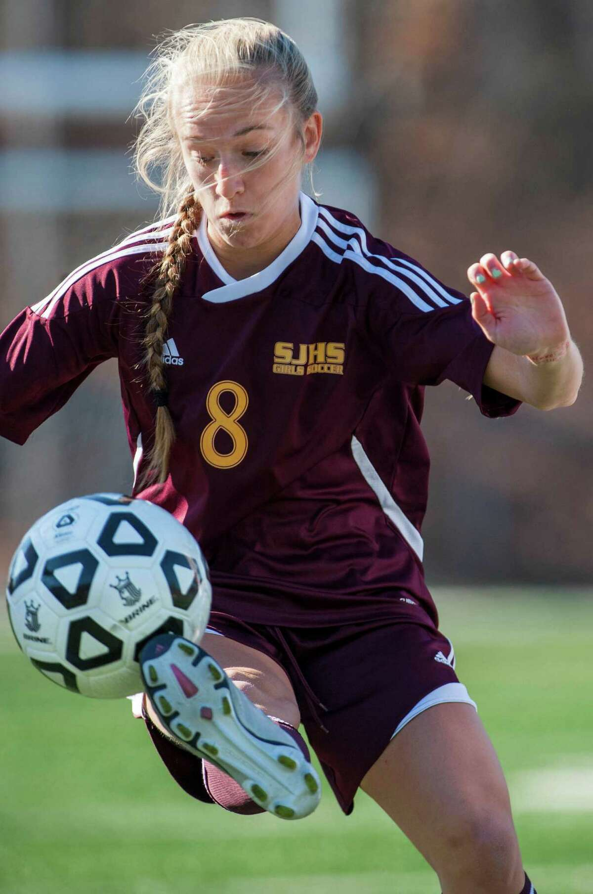 BEST FEMALE ATHLETE IN LEADING ROLE: SAMANTHA GRASSO. The senior from St. Joseph was a force on the soccer field while leading the Cadets to the state championship. Finished her career with 75 goals and 68 assists. All-America, and three-time All-FCIAC and All-State
