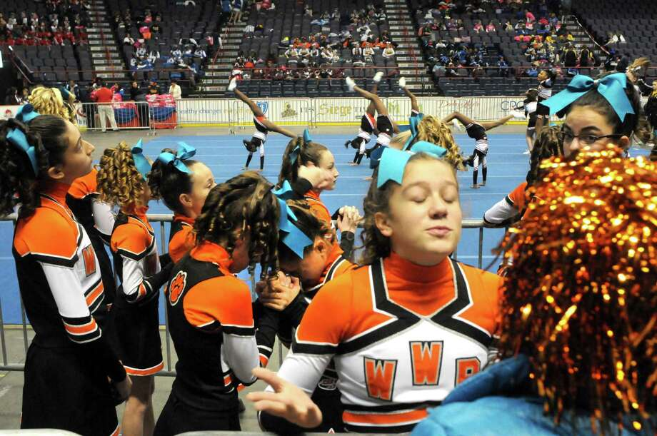 The West Windsor-Plainsboro Wildcats compete in the Eastern Region Pop Warner Cheer and Dance Championships at the Times Union Center on Saturday Nov. 16, 2013 in Albany, N.Y. The competition continues at the Times Union Center on Sunday.  (Michael P. Farrell/Times Union) Photo: Michael P. Farrell / 00024616A