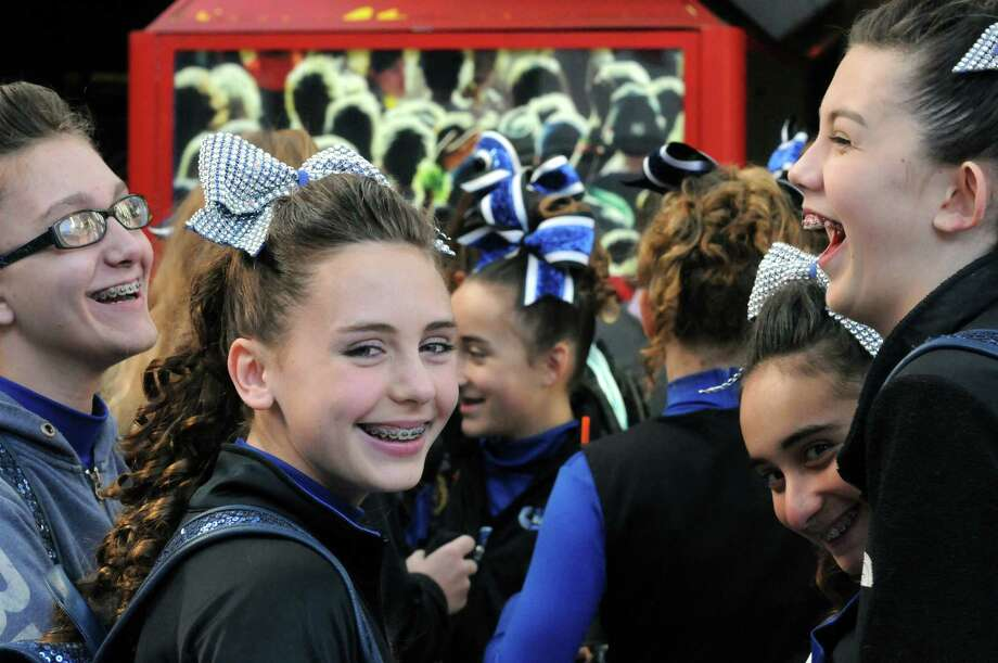 The New City Rams of Rockland County wait to register during the Eastern Region Pop Warner Cheer and Dance Championships at the Times Union Center on Saturday Nov. 16, 2013 in Albany, N.Y. The competition continues at the Times Union Center on Sunday.  (Michael P. Farrell/Times Union) Photo: Michael P. Farrell / 00024616A