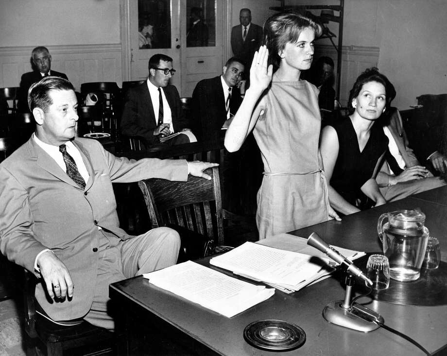 Marina Oswald, appearing at a hearing in a civil suit in Dallas in the 1960s, has tried to maintain her privacy despite her unwitting role in one of the 20th century's most momentous events. Photo: BILL WINFREY, MBR / Dallas Morning News