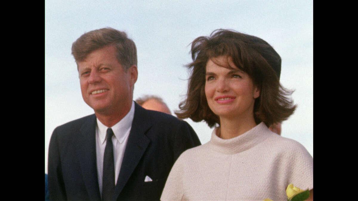 President John F. Kennedy and Jacqueline Kennedy arrival in San Antonio on Nov. 21, 1963.