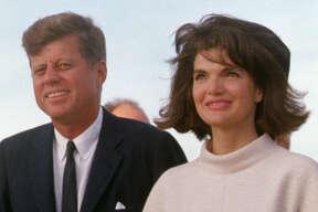 San Antonio, TX USA: President John F. Kennedy and Jacqueline Kennedy arrival in San Antonio.