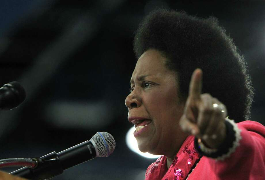Congresswoman Sheila Jackson Lee delivers her speech  during an Affordable Care Act town hall meeting at George R. Brown Convention Center. Photo: Mayra Beltran, Houston Chronicle / © 2013 Houston Chronicle