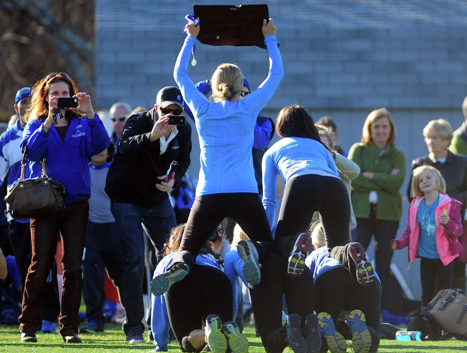 Class L girls state field hockey championship action between Darien and Cheshire in Wethersfield, Conn. on Saturday March 16, 2013. Photo: Christian Abraham / Connecticut Post