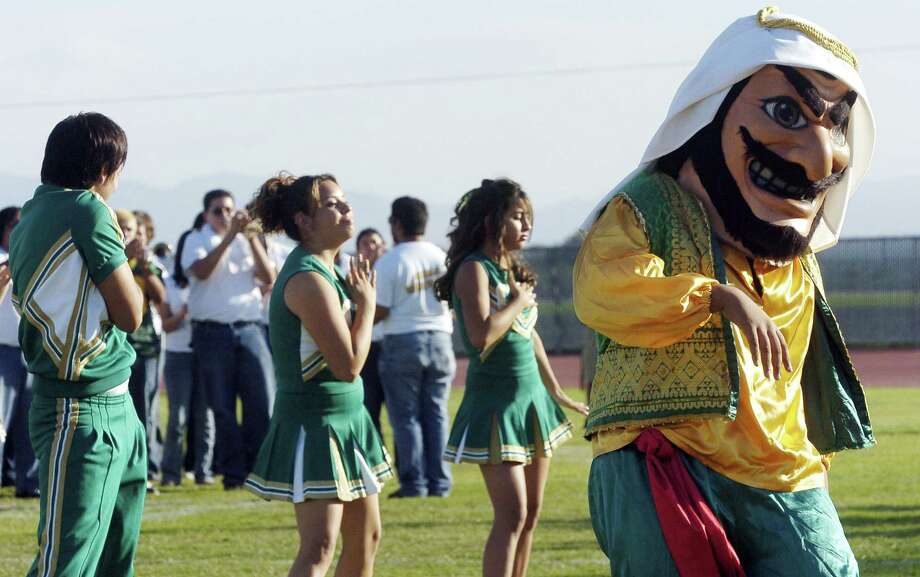 Coachella Valley High's mascot Arab was created in the 1920s to recognize the area's date farming. Photo: Marilyn Chung, MBR / The Desert Sun