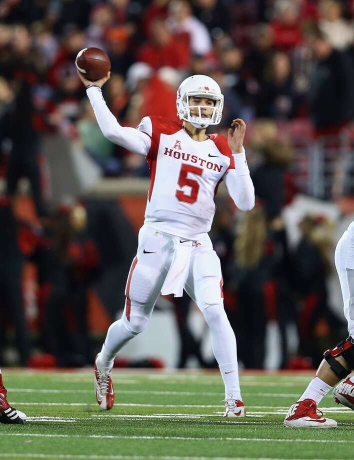 Nov. 16: Louisville 20, UH 13Record: 7-3  John O'Korn #5 of the Cougars throws a pass. Photo: Andy Lyons, Getty Images