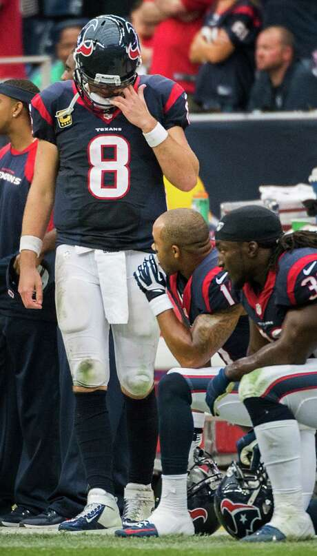 The meltdown by former starting quarterback Matt Schaub (8) started the Texans' downward spiral this season. Photo: Smiley N. Pool, Staff / © 2013  Houston Chronicle