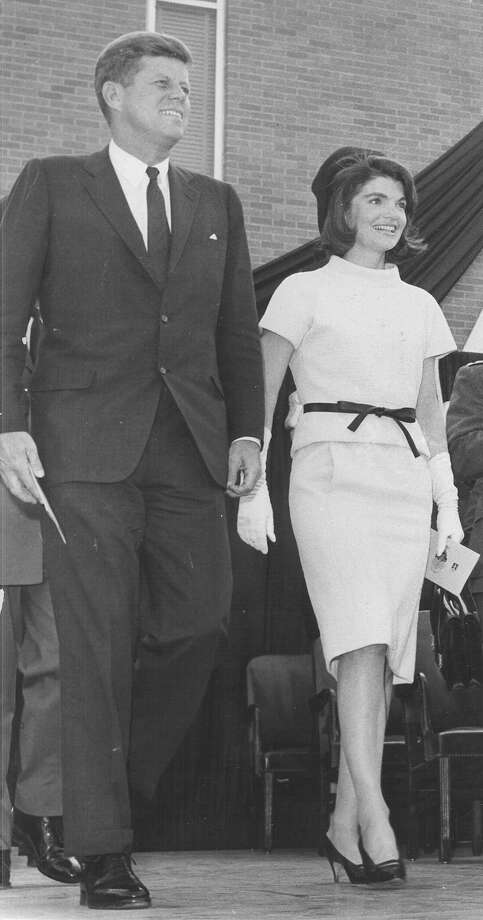 President John F. Kennedy and First Lady Jacqueline Kennedy at Brooks Medical Research Center in San Antonio on Nov. 21, 1963. Photo: San Antonio Light File Photo