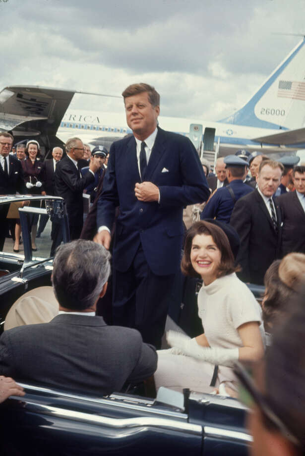 Texas Gov. John B. Connally Jr. drives President John F. Kennedy and Jacqueline Kennedy at San Antonio International Airport on Nov. 21, 1963. Photo: Art Rickerby, Time & Life Pictures Via Getty Images / Time & Life Pictures