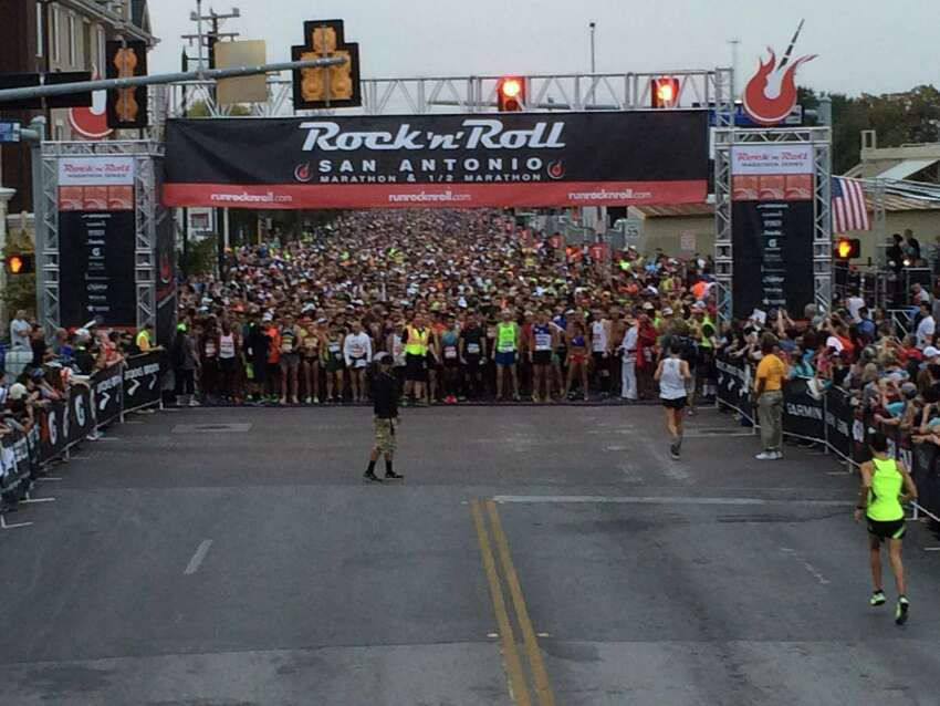 Many runners took to the 26.2-mile course of the sixth Rock 'n' Roll San Antonio Marathon and 1/2 Marathon Sunday morning, Nov. 17, 2013.