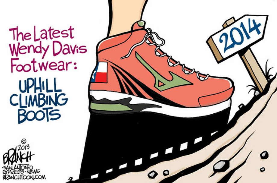 The latest Wendy Davis footwear Photo: John Branch/Express-News