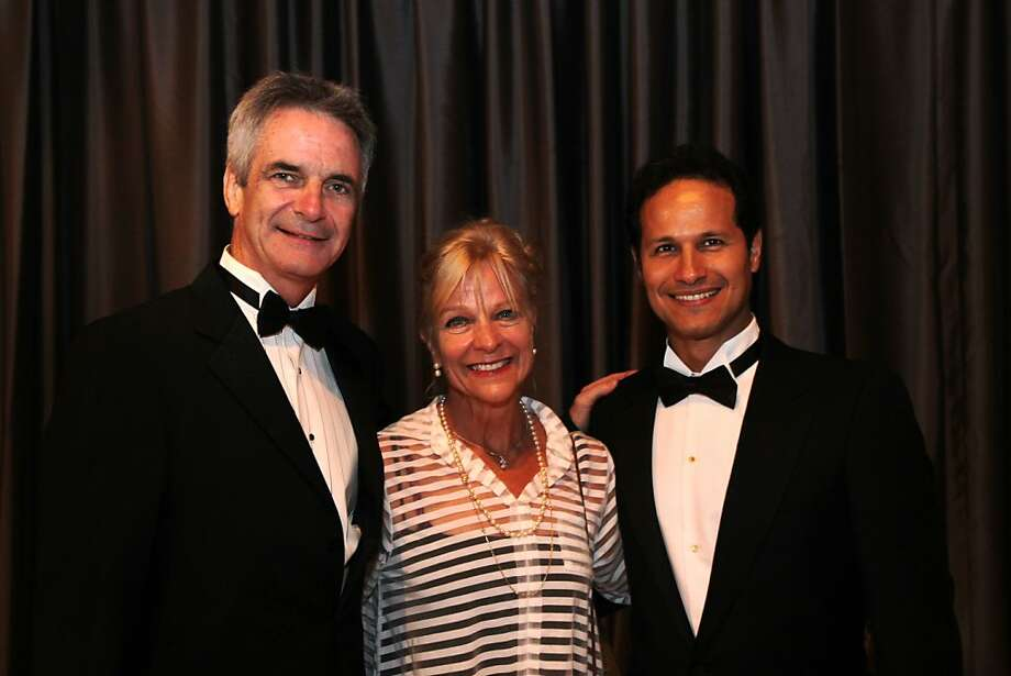 From left, Kevin McKenzie, Kristine Elliot and Jose Carreno at the cocktail reception for the Artistic Director Jose Manuel Carreno with Ballet San Jose as part of a gala evening and performance November 16, 2013 at the San Jose Center for Performing Arts in San Jose, Calif. Photo: Leah Millis, The Chronicle