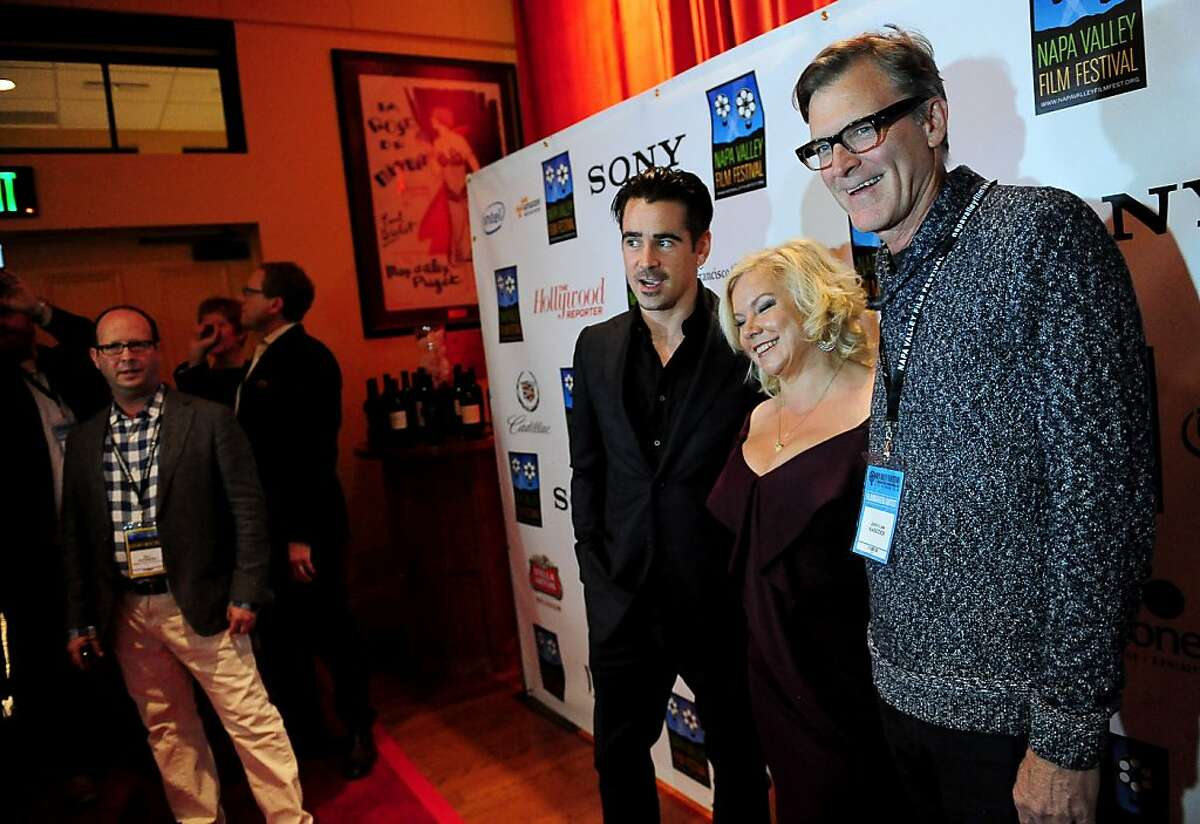 Actor Colin Farrell (left), Producer Alison Owen and Director John Lee Hancock from the movie
