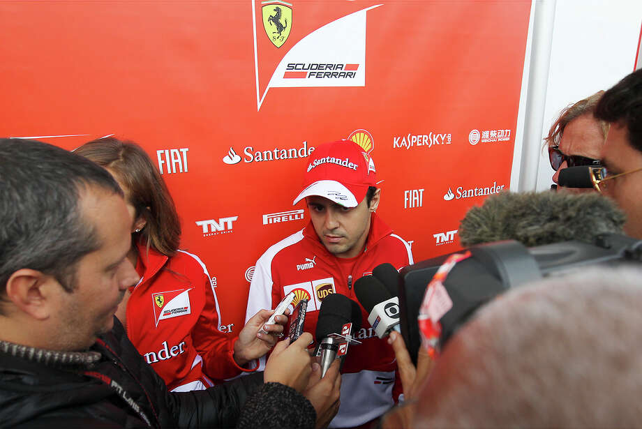 Ferrari driver Felipe Massa meets with the press at the Circuit of the Americas near Austin, Texas on Thursday, Nov. 14, 2013. Photo: Kin Man Hui, San Antonio Express-News / ©2013 San Antonio Express-News