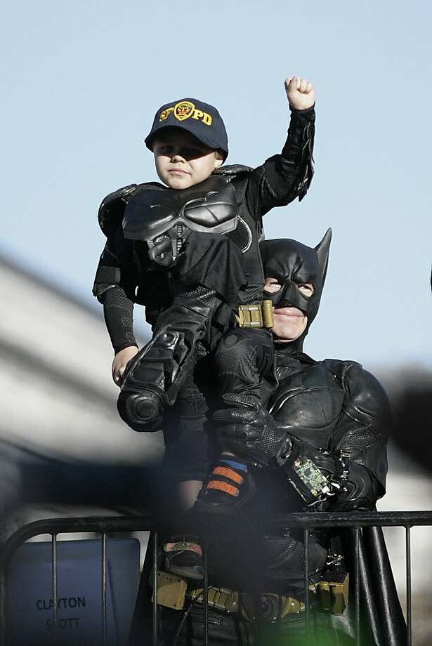 Batkid Miles Scott has become a sensation with millions of Twitter users. Photo: Gary Reyes, Associated Press