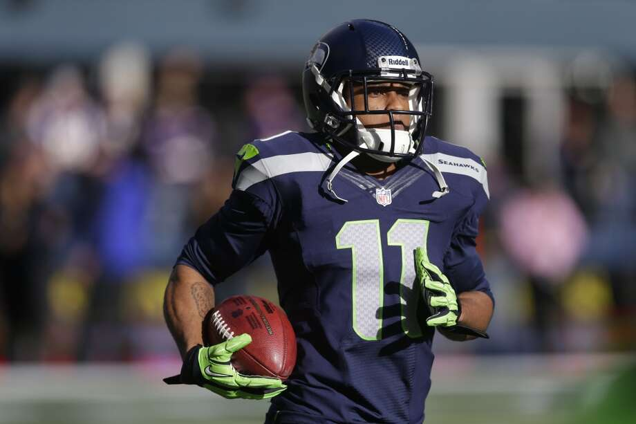 Seattle Seahawks' Percy Harvin warms-up before an NFL football game against the Minnesota Vikings, Sunday, Nov. 17, 2013, in Seattle. (AP Photo/Ted S. Warren) Photo: AP