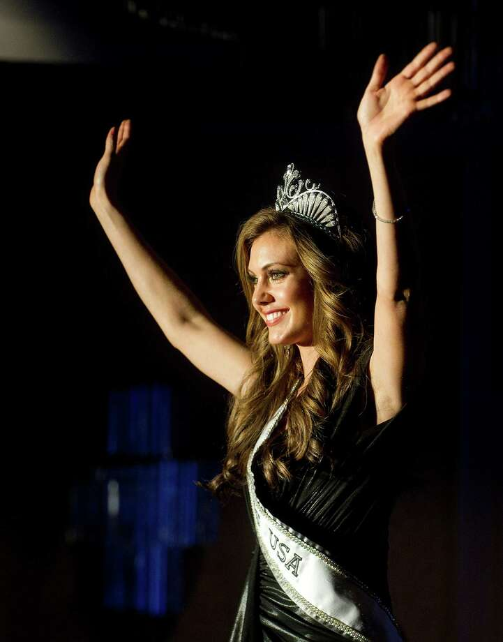 Miss USA 2013, Erin Brady, winner of the Miss USA competition, greets the crowd during the 2014 Miss Connecticut USA pageant at the Stamford Marriott in Stamford, Conn., on Sunday, November 17, 2013. Photo: Lindsay Perry / Stamford Advocate