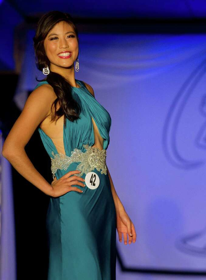 Patty Lu of New Haven competes in the Miss Connecticut USA pageant at the Stamford Marriott in Stamford, Conn., on Sunday, November 17, 2013. Photo: Lindsay Perry / Stamford Advocate