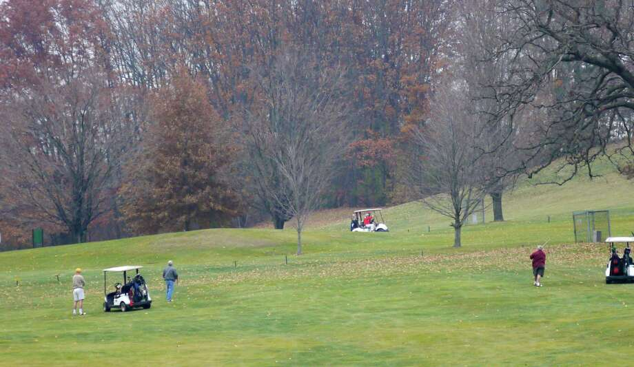Groups of golfers play the course at the Frear Park Golf Course on the final day of the season for the course on Sunday, Nov. 17, 2013 in Troy, NY.   (Paul Buckowski / Times Union) Photo: Paul Buckowski / 00024673A