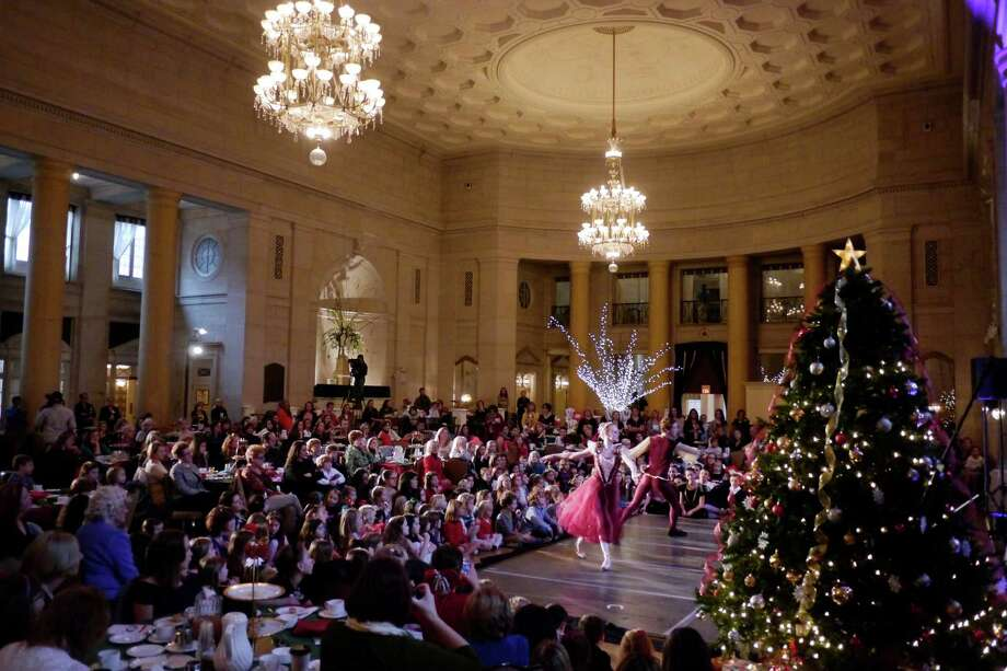 Dancers perform to a sold-out crowd during the Nutcracker Tea put on by the Northeast Ballet Company at the Hall of Springs on Sunday, Nov. 17, 2013 in  Saratoga Springs, NY.  The event benefits SPAC's performing arts education programs.   (Paul Buckowski / Times Union) Photo: Paul Buckowski / 00024670A