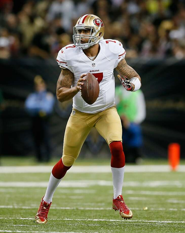 NEW ORLEANS, LA - NOVEMBER 17:  Colin Kaepernick #7 of the San Francisco 49ers rolls out of the pocket against the New Orleans Saints at Mercedes-Benz Superdome on November 17, 2013 in New Orleans, Louisiana.  (Photo by Kevin C. Cox/Getty Images) Photo: Kevin C. Cox, Getty Images