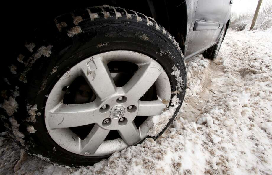 Q: What's the fine if I have studded tires on my car out of season?  A: $124.  Studded tires are normally allowed in Washington from Nov. 1 to March 31. Photo: Matt Cardy, Getty Images