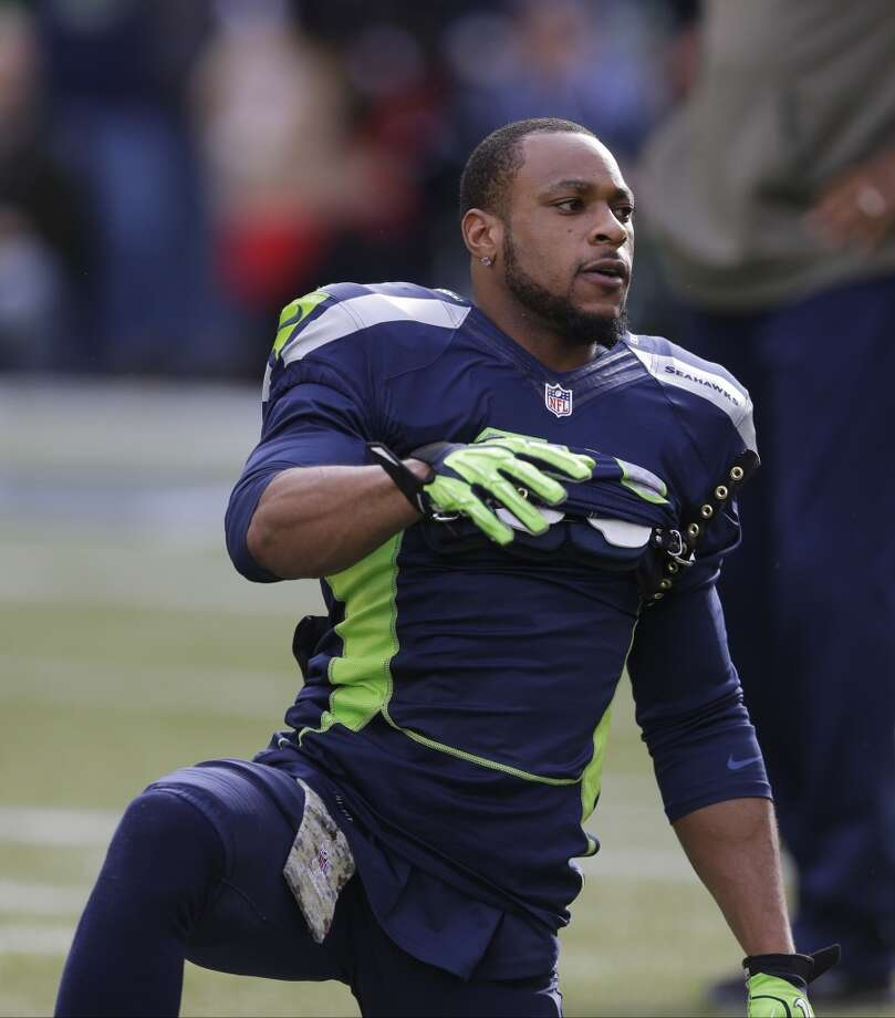Seattle Seahawks' Percy Harvin stretches before an NFL football game against the Minnesota Vikings, Sunday, Nov. 17, 2013, in Seattle. (AP Photo/Ted S. Warren) Photo: Ted S. Warren, AP