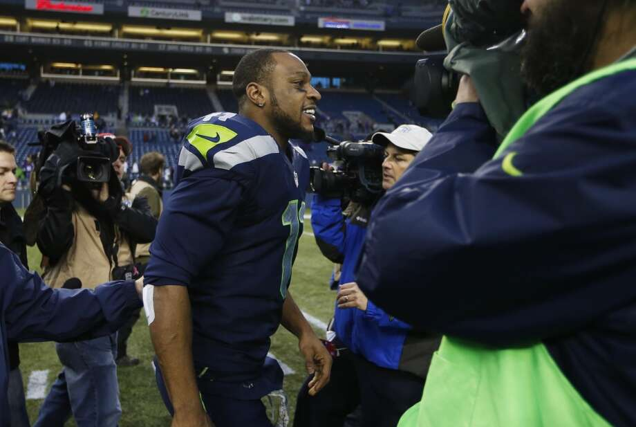 Seattle Seahawks wide receiver Percy Harvin leaves the field after an NFL football game against the Minnesota Vikings, Sunday, Nov. 17, 2013, in Seattle. (AP Photo/John Froschauer) Photo: JOHN FROSCHAUER, AP