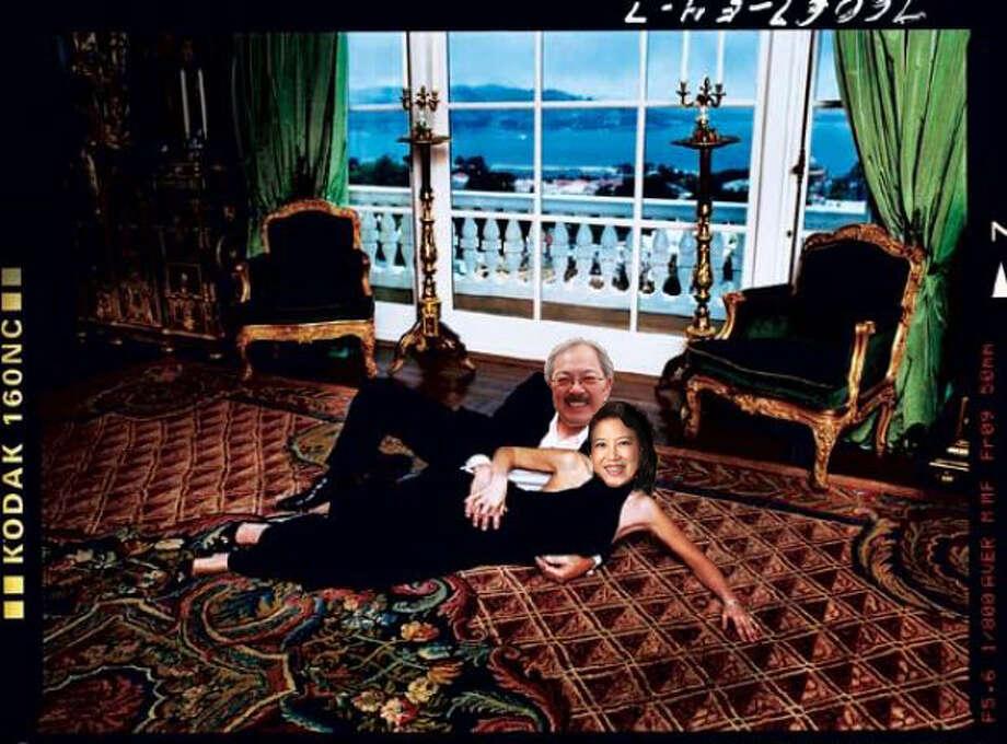 "2. Pose on a rug with his wife Anita for a ""Vanity Fair"" spread. Photo: Photo Illustration By Sara Gobets"
