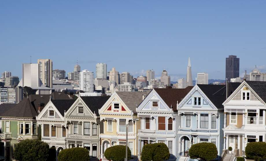 "16. Repaint the ""Painted Ladies"" houses beige. Photo: Lillisphotography, Getty Images"