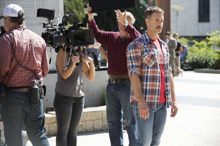 "Murray Bartlett on location in San Francisco, filming a scene from ""Looking."" Photo: John P. Johnson, HBO"