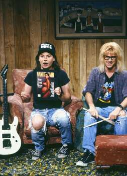 Laughed with ''Wayne's World.'' (Photo, 1990).