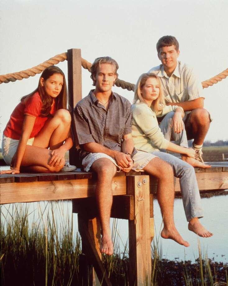''Dawson's Creek'' in 1997, with (left to right) Katie Holmes, James Van Der Beek, Michelle Williams and Joshua Jackson.