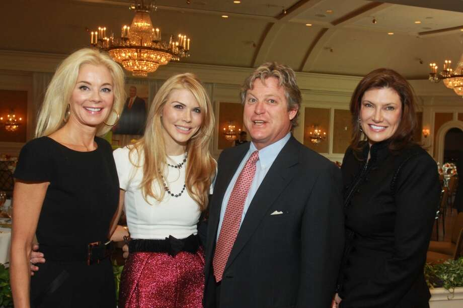 Ted Kennedy Jr. with chairs, Tena Faust, from left, Lindsey Love and Rosemarie Johnson Photo: Gary Fountain, For The Chronicle