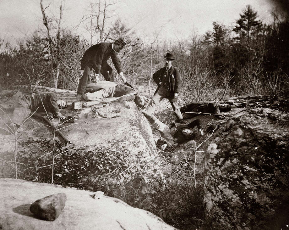 Culps Hill, third day of the Battle of Gettysburg, July 1863. Photo: Science & Society Picture Librar, SSPL Via Getty Images / SSPL/National Media Museum