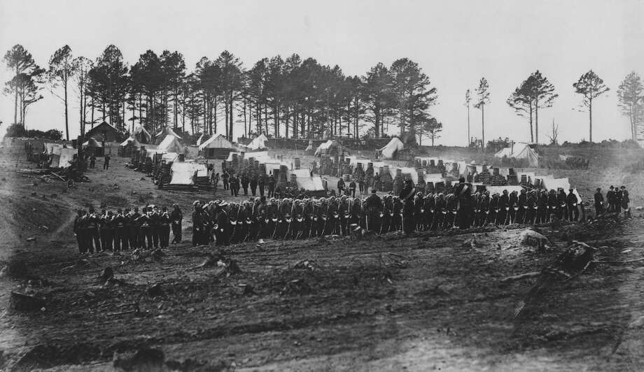 The one hundred and fourteenth regiment Pennsylvania volunteers at the headquarters army of the Potomac in Gettysburg, Pennsylvania circa 1863. Photo: Archive Photos, Getty Images / 2010 Getty Images