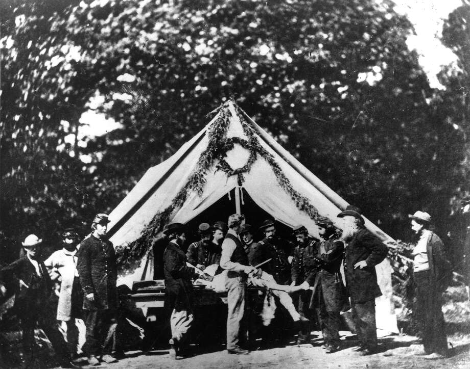 An amputation being performed in a hospital tent, Gettysburg, July 1863. Photo: PhotoQuest, Getty Images / Archive Photos