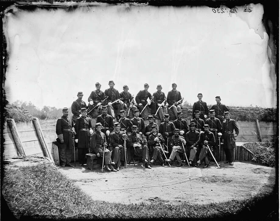 Officers of 50th Pennsylvania Infantry, a regiment of the Union Army, at Gettysburg during the American Civil War, July 1865. Photo: Library Of Congress, Getty Images / Archive Photos