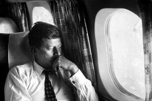 Sen. John F. Kennedy on his private plane during his Presidential campaign in 1960. Photo: Paul Schutzer, Time & Life Pictures/Getty Image / Time Life Pictures