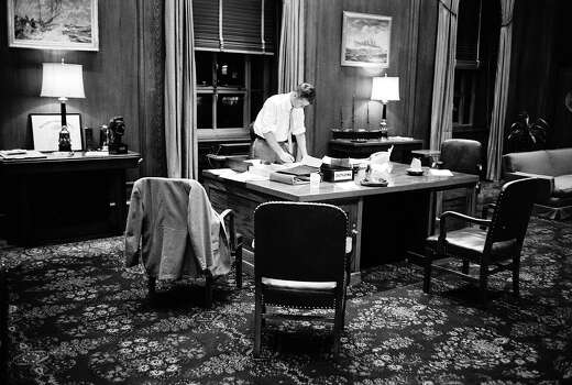President John F. Kennedy working late into the night at the White House in 1961. Photo: Joe Scherschel, Time & Life Pictures/Getty Image / Time & Life Pictures