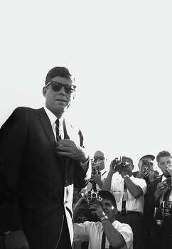 President John F. Kennedy views a demonstration of missile launches at the White Sands Missile Testing Grounds on June 5, 1963, in White Sands, New Mexico. Photo: I C Rapoport, Getty Images / 2013 I.C. Rapoport