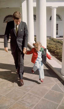 (L-R) President Kennedy walking hand-in-hand w. daughter Caroline on St. Patrick's Day at the White House.  (Photo by Paul Schutzer//Time Life Pictures/Getty Images) Photo: Paul Schutzer, Time & Life Pictures/Getty Image / Time Life Pictures
