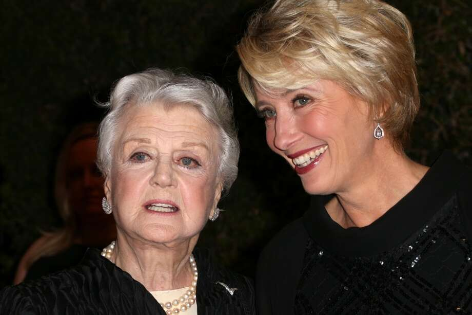 Honoree Angela Lansbury and actress Emma Thompson arrives at the Academy of Motion Picture Arts and Sciences' Governors Awards at The Ray Dolby Ballroom at Hollywood & Highland Center on November 16, 2013 in Hollywood, California. Photo: Frederick M. Brown, Getty Images